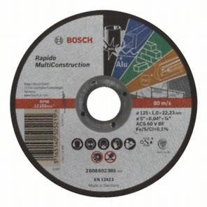 Диск за рязане, прав, Rapido Multi Construction ACS 60 V BF, 125 mm, 1,0 mm